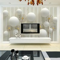 사용자 정의 3D 사진 벽지 현대 패션 간단하고 부드러운 민들레 침구 룸 소파 배경 벽화 벽 종이 3D