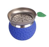 Nueva pelota de golf redonda, gel de sílice, tazón de fuente de humo, juego para fumar y accesorio para botella de agua.
