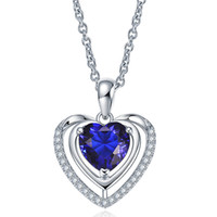 N9009 Silver Love Pendant Amethyst Crystal Charm Fit Necklace sweet Rose Gold Jewelry 5pcs Mixed Style Free Shipping