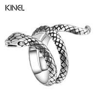Wholesale Fashion Snake Rings For Women Color Silver Heavy M...