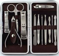 12 قطع مانيكير مجموعة باديكير مقص الملقط سكين الأذن اختيار أداة مسمار المقص كيت ، الفولاذ الصلب مسمار أداة العناية مجموعة