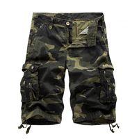Männer Sommer Camouflage Shorts Herrenmode Cargo Shorts Männliche Workoutshort Homme Baumwollshorts Baggy Tactical Hot