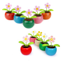 All'ingrosso- MUQGEW New Colorful Solar Powered Dancing Flower Swinging Animated Dancer Toy Car Decoration Auto giocattoli solari Accessori giocattoli