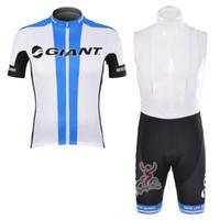 GIGANTE equipo Ciclismo mangas cortas jersey babero cortos conjuntos venta caliente Aceptar personalización Hombres Transpirable de secado rápido Bicicleta U40205