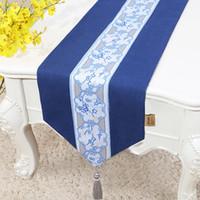 120 inch extra lang geborduurde elegante tafellopers voor bruiloft kerstfeest tafel decoratie katoen linnen tafelkleed 300 x33 cm