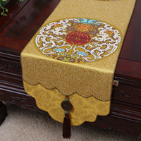 Thicken Extra Long Chinese Damask Table Runners for Wedding ...