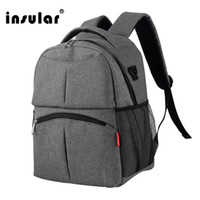 Insular Solid Color Baby Diaper Bag Backpack Multifunctional...