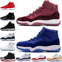 11 11s Cap und Gown Prom Night Herren Basketball Schuhe Gym Red Bred PRM Erbin Barons Gamma Blue Concord Herren Sport Sneakers Trainer Designer