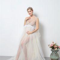 Платье для беременных Фотосъемка для беременных женщин для беременных женщин одежда новая мама длиной длиной платья длиной пола кисточек мам