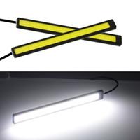 20X 17 센치 메터 범용 COB DRL LED 주간 실행 조명 자동차 램프 외부 조명 자동 방수 자동차 스타일링 Led DRL 램프