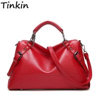 Tinkin Women Casual PU Motorcycle Bag Female Vintage High Ca...