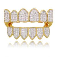 جودة عالية الهيب هوب مشاوي قبعات على شكل مثلج خارج فتح جريل جريلز أعلى أسفل جريلز مجموعة الرجال النساء الأسنان الفم