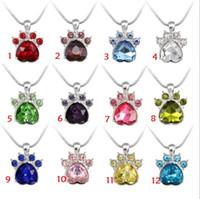 Il pendente sveglio della collana della zampa del gatto dell'artiglio del gatto dell'artiglio del cane di colori 12 incanta i branelli Trasporto libero