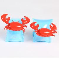 Мультфильм дети фламинго плавать рука кольцо ins краб рука группа милый ребенок плавание поплавки игрушка плавающей руку кольца