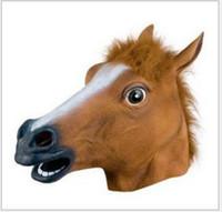 Máscara de Halloween COS, máscara de cabeça de cavalo, cabeça de cavalo L105