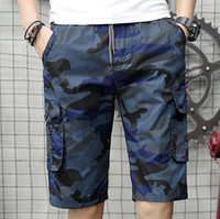 Men Shorts Camo Summer Short Pants Style Knee Length Fashion...