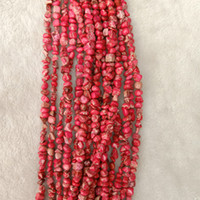 غير النظامية الطبيعية الأحمر الامبراطوري يشب ستون الخرز diy النتائج مجوهرات 8-10 ملليمتر فضفاض الحصى الإمبراطور ستون الخرز صالح قلادة 16 ''