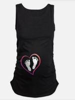Hamile Kadın Tişört Kostüm Yaz Komik Gebelik Pamuk Yelek Gömlek Casual Kolsuz Tees Plus Size Hamile Giyim Tops