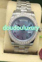 Высокое качество мужские часы светло-голубой циферблат Аравия шкала моды Алмаз наручные часы полностью автоматические механические часы