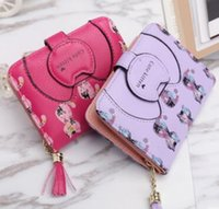 2018 Famous Women Card holder Wallet Double Zipper Genuine l...