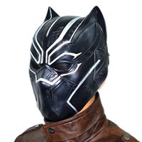 Solid 3d Black Panther Wakanda King T ' Challa Masks Mov...