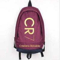 جديد موضة كريستيانو كبير قماش السفر الرجال cr7 رونالدو حقيبة الكمبيوتر حقيبة الظهر الصبي حقيبة الظهر فتاة النساء مدرسة فهوب