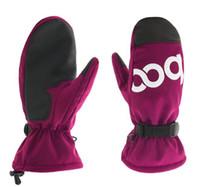 BOODUN vente chaude cowboy rose rouge PU gants de ski en cuir / sports gants en plein air usine en gros Epacket post gratuit