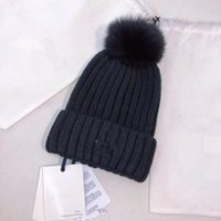 Real Fur Raccoon Knitted Winter Brand Hat Knitted Girls Ski ...