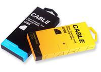 Scatola di imballaggio di carta 500pcs per la linea di dati del cavo del USB Imballaggio di scatola di carta di imballaggio al dettaglio