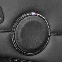 Carbon Fiber Car door Speaker Decorative Circle Sticker Loud...