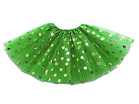 Niños Infant Tutu Skirt Baby Girls Tutus Dancewear Golden Polka Dot Tutu Vestido recién nacido Tutu Pettiskirt