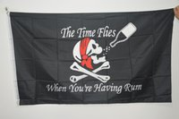 3x5FT Big Halloween Skull Pirate Flags Bere Bar Black Jolly Roger Crossbones Spade Bandiere nere Puntelli di Halloween