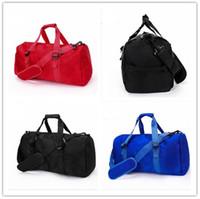 2018 nuevos hombres de la manera bolso de lona del bolso del recorrido de las mujeres, bolsos del equipaje del diseñador de la marca bolso deportivo del deporte de la capacidad grande 47CM