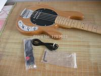 Tienda de encargo de la fábrica 2015 el más nuevo Musicman Sting Ray 5 cuerdas natural de madera bajo guitarra 7 6ghj