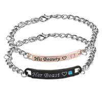 hot movie beauty and beast Couple Lover bracelet Her king Hi...