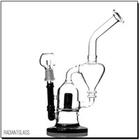 Mini glass bong oil rig with black splash guard 250g recycle...