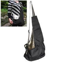 Kleines schwarzes Oxford-Tuch-Sling-Haustierhundkatze-Carrier-Tasche für Haustierliebhaber im Freien-Reise Wandern