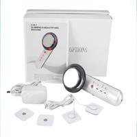 고밀도 초음파 3 1 다기능 핸드 헬드 슬리밍 뷰티 머신 EMS 슬리밍 마사지 DHL 무료 배송