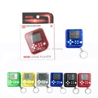 Tetris Machine Mini Game Player Keychain Portable Plastic Cl...