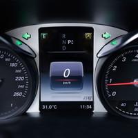 Car Styling Écran d'ordinateur de bord de l'ordinateur de bord du tableau de bord de la couverture garniture autocollant de cadre pour Mercedes Classe C W205 GLC Auto