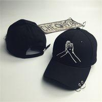 Casquillos de la manera CottonHand Snapback de béisbol para mujeres de los hombres de Hip Hop Sombrero ajustable adultas cupo el bordado papá gorra