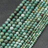 Ingen färgad rund naturlig afrikansk jade stenpärlor 4/6 / 8mm lösa riktiga pärla stenpärlorsträng 15 '' för smycken som gör DIY-armband