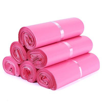 Hot 25 * 35 cm Rosa Poli Mailer Envelopes Saco De Envio De Plástico Sacos De Discussão Polybag Poly mailer 300 pçs / lote Frete grátis