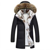 Winterjacke Männer hohe Qualität Männer lange Daunenmantel Mode große Haare Kragen dickere Wärme Kapuzen Freizeit Park Jacke Plus Größe