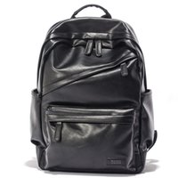 Men Patent Leather Backpack Men' s Travel Bags & Men...