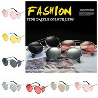 Four Lenses Sunglasses Women Ocean Comfortable Metal Round F...