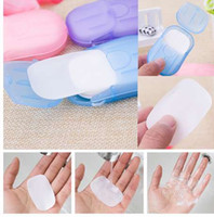 Y&W&F 20pcs Disposable Boxed Soap Paper Travel Portable Hand...