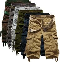 Erkekler Ordusu Kamuflaj 3/4 Kargo Şort Pantolon Kalıbı Pantolon şort 1801ZYAA1544