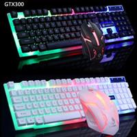 Tastiere Gamer USB cablate 104 tasti Tastiera Gaming Tastiera e mouse Tastiera retroilluminata per PC Desktop Tastiera portatile da gioco