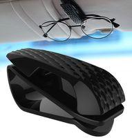 عالمي سيارة الشمس قناع نظارات حامل PC المواد نظارات شمسية شماعات السيارات الداخلية السوداء مع وسادة رغوة